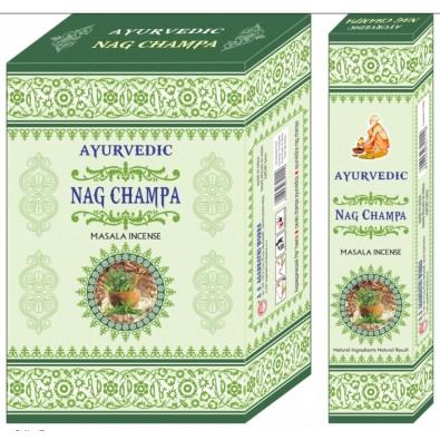 Kadzidełka z naturalnych ziół Ayurvedic Nag Champa - India - 14 zł