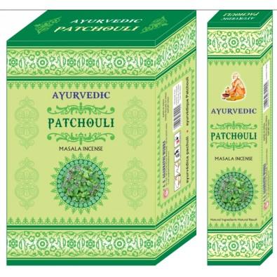 Kadzidełka z naturalnych ziół Ayurvedic Patchouli - India - 14 zł