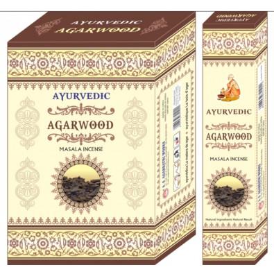 Kadzidełka z naturalnych ziół Ayurvedic Agarwood - India - 14 zł